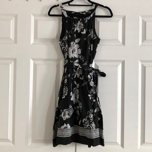 Black and white floral dress from WHBM